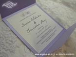 lila pozivnica za vjenčanje s cirkonom i tiskom