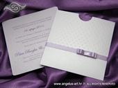 Pozivnica za vjenčanje Lilac Dots Charm
