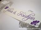 lila tablice za auto za vjenčanje