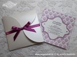 ljubičasta ciklama pozivnica u omotnici na rasklapanje