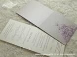 ljubičasta lila pozivnica s cirkonom