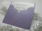 Pozivnica za vjenčanje - Purple Butterfly Charm