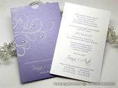 Pozivnica za vjenčanje Purple & White Charm