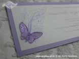 ljubičasta pozivnica za vjenčanje s leptirom