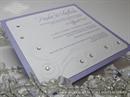 Pozivnica za vjenčanje - Purple Crystal Line