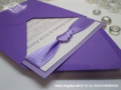Pozivnica za vjenčanje Lovely in Purple