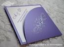 Pozivnica za vjenčanje Diamond Lilac Swirls