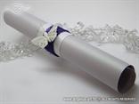 ljubičasta rolana pozivnica za vjenčanje s cirkonima i leptirom