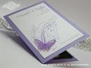 Zahvalnica za vjenčanje Leptirov let - ljubičasta