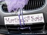 ljubicaste tablice za vjencanje s imenima
