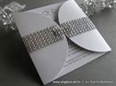 Pozivnica za vjenčanje - Crystal Diva Bijela
