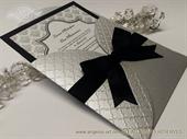 Siver Black Damask Beauty Pozivnica za vjenčanje