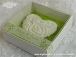 magnet konfet bijelo srce u kutijici