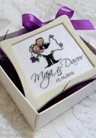 Magnet za frižider - konfet za vjenčanje