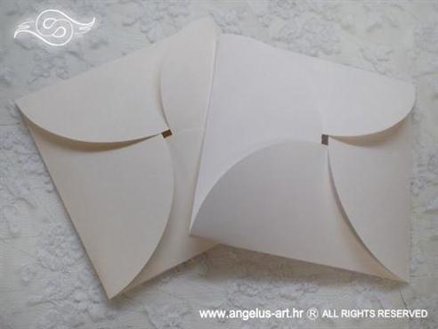 mat omotnica za izradu pozivnica u bijeloj ili krem boji