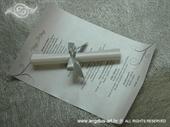 Menu za vjenčanje - Srebrna mašna