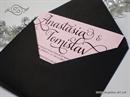 Pozivnica za vjenčanje - Pink & Black Line