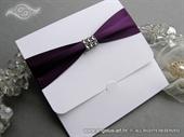 Pozivnica za vjenčanje - Purple Saten New Classic