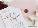 Pozivnica sa foliotiskom -Golden Rose Line