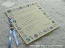 Pozivnica za vjenčanje Plava morska priča