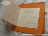 narančasta pozivnica s tiskom na rasklapanje