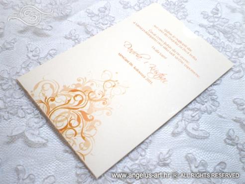 narančasta zahvalnica za vjenčanje s ornamentima