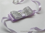 narukvica kitica za vjenčanje sa srebrnom mrežom i leptirom
