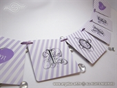"Photo booth props - Purple ""Love"" Banner"