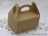 Natur kutija za kolače od rebrastog kartona bez dekoracija