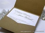 natural eko vintage pozivnica sa cipkom