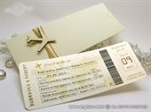Pozivnica za vjenčanje - Boarding pass