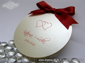 Pozivnica za vjenčanje - Round Joy Red Hearts