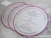 Menu za vjenčanje - Round Ciklama