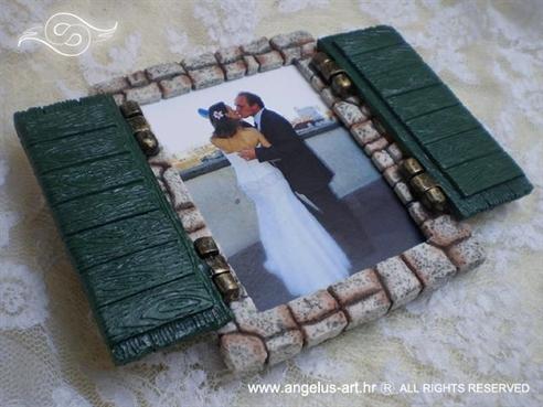 okvir za sliku škure konfet zahvalnica za vjenčanje