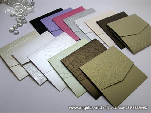 omotnice raznih boja za izradu pozivnica za vjencanje