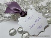 Oznaka s imenom gosta - Lilac Frame