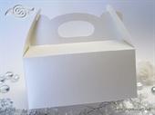 Bijela perlasta kutija za kolače