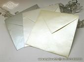 Kuverte 17x17 cm za izradu pozivnica od perlastog kartona - uradi sam DIY