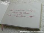 personalizacija za knjigu dojmova ružičastu