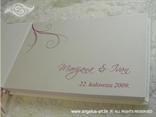 personalizacija za knjigu dojmova smeđe roza