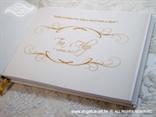 personalizacija za knjigu gostiju s perlama
