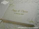 personalizacija za krem šampanj knjigu gostiju