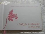 personalizacija za vjenčanje s ružičastom ružom