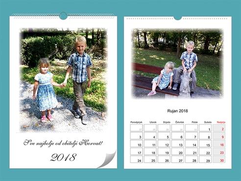 Personalizirani kalendar A4