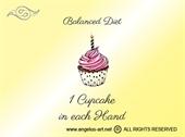 "Platnena vrećica ""Cupcake Diet"""