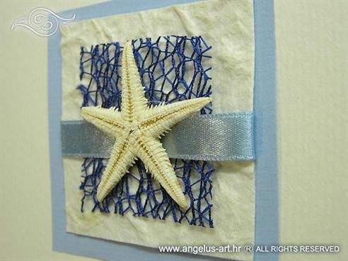 plava morska zahvalnica za vjenčanje s morskom zvijezdom