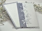 Pozivnica za vjenčanje Blue Flower Charm