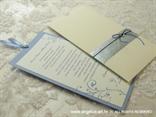 plava pozivnica za vjenčanje u krem etui kuverti s cirkonom