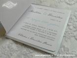 plava pozivnica za vjenčanje za morsko vjenčanje s tiskom