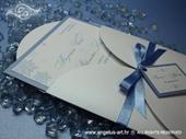 Pozivnica za vjenčanje Blue Winter Beauty
